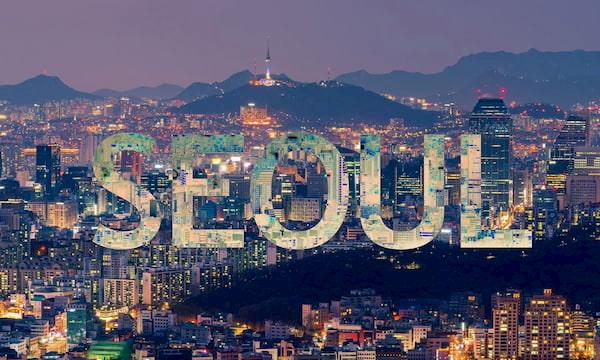 Ve dep cu thanh pho Seoul