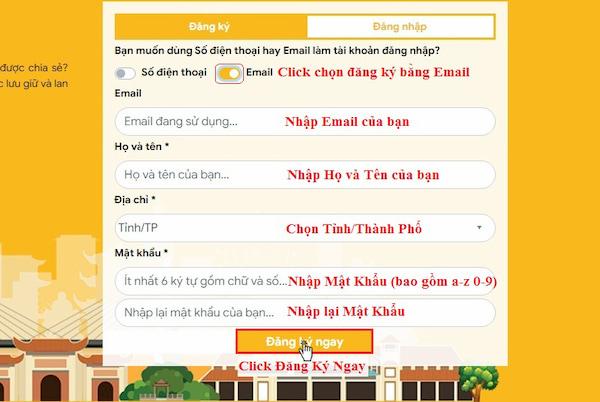 Huong dan dang ky tai khoan tai website tuongtaccongdong.com 3