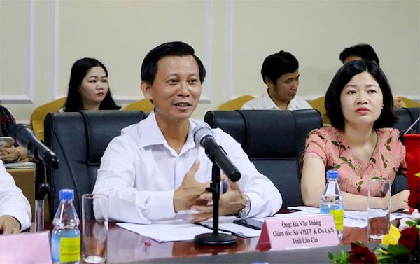 Ong Ha Van Thang giam doc so van hoa the thao va du lich tinh lao cai
