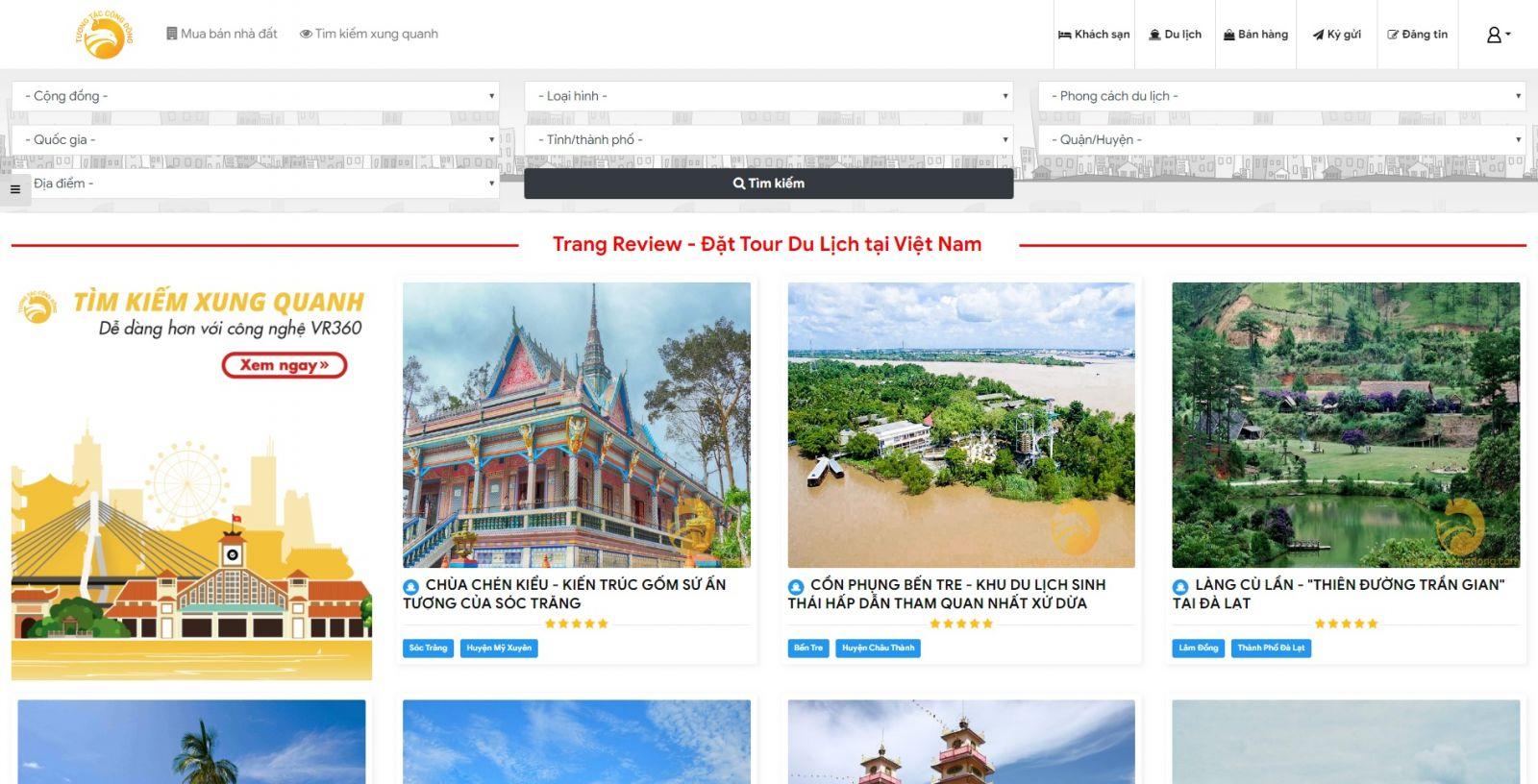 Hình ảnh Tính Năng Review và Đặt Phòng Khách Sạn - tuongtaccongdong.com