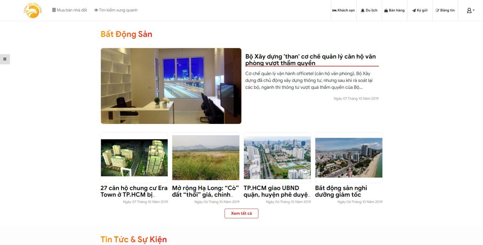 Hình ảnh Tính Năng Cập Nhật Tin Tức, Chia Sẻ Kinh Nghiệm Bất Động Sản - tuongtaccongdong.com