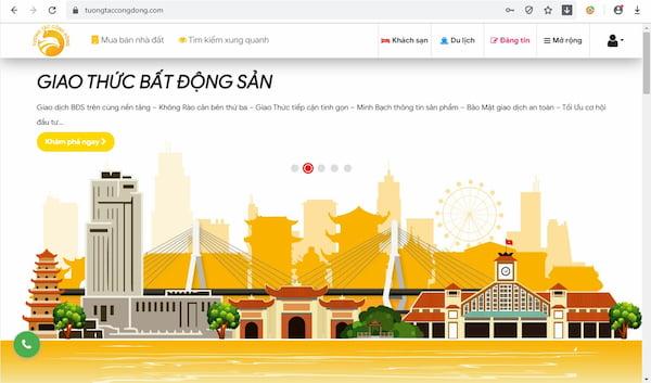 Hinh giao dien kenh thuong mai dien tu bat dong san tuongtaccongdong.com